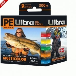 Плетеный шнур PE ULTRA MULTICOLOR JIG TROLL 0,60 mm 300m